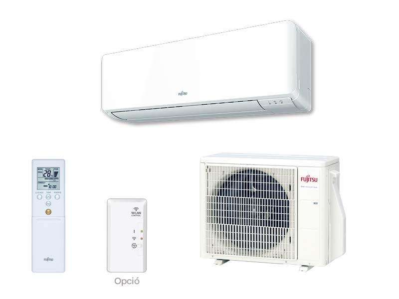 Fujitsu Standard KM sorozat inverteres oldalfali split klíma